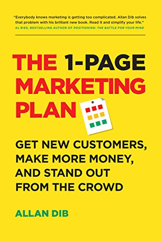 1 page marketing plan recommended book