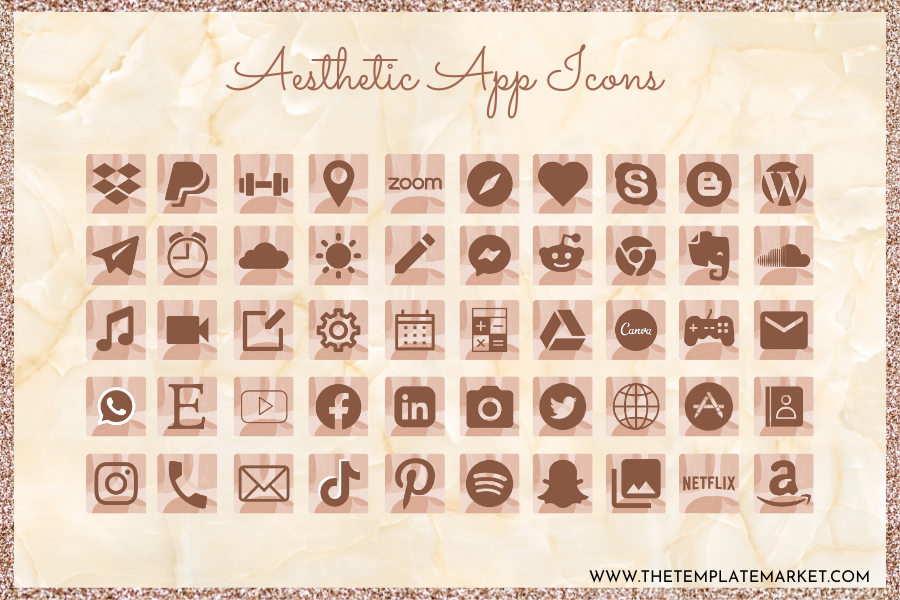 Chocolate Brownie - Aesthetic App Icon