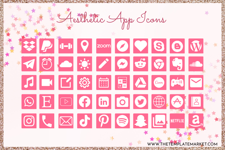 Pink Candy Love- Aesthetic App Icon