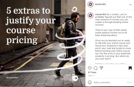 convertkit instagram templates