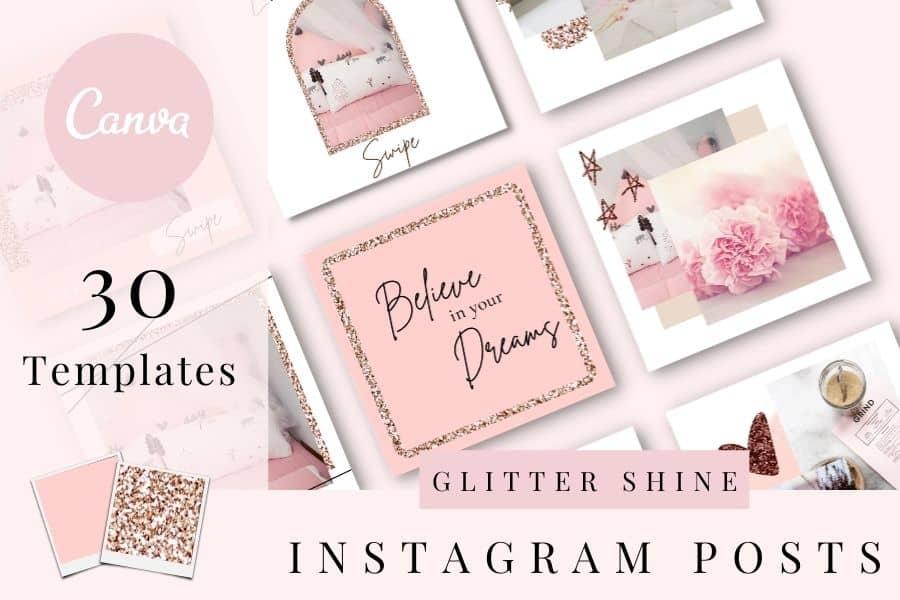 Gitter-Shine-Instagram-Template