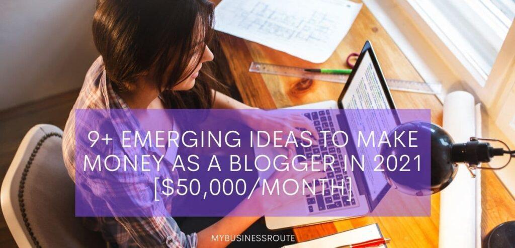 make money as a blogger
